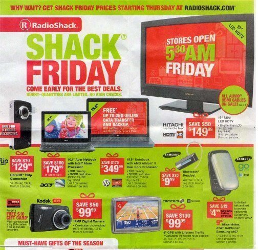 radioshack black friday sale 2010