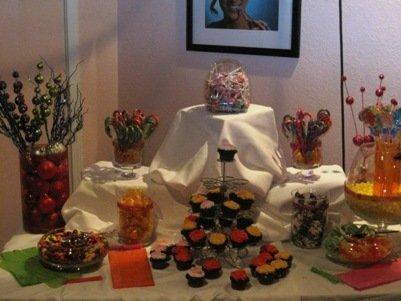 wonderland fashion show san francisco candy table