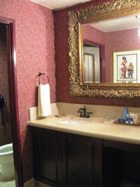 disneyland hotel pirates of the caribbean suite bathroom hallway