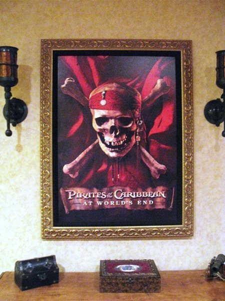 disneyland hotel pirates of the caribbean suite entry way poster