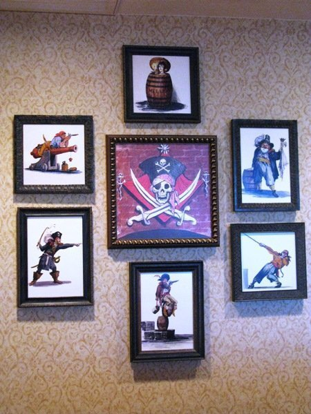 disneyland hotel pirates of the caribbean suite framed artwork dining kitchenette