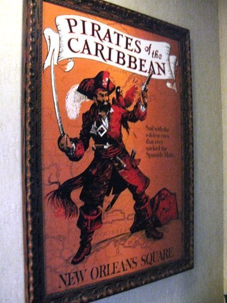 disneyland hotel pirates of the caribbean suite framed poster