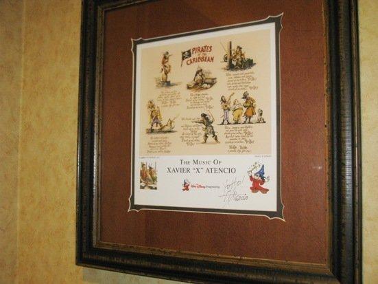 disneyland hotel pirates of the caribbean suite xavier atencio signed artwork