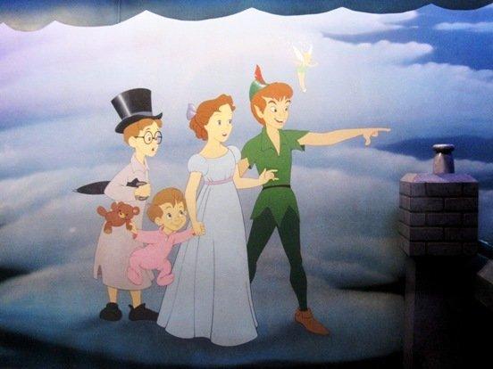 disneyland peter pan ride mural