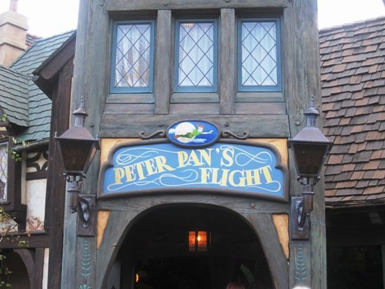 disneyland peter pan ride