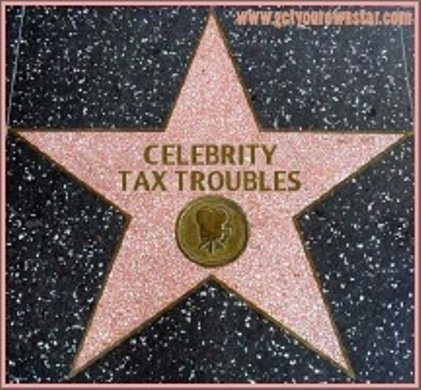 celebrity tax troubles