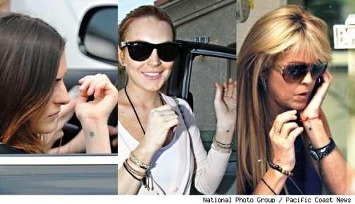 ali lohan wrist tattoo