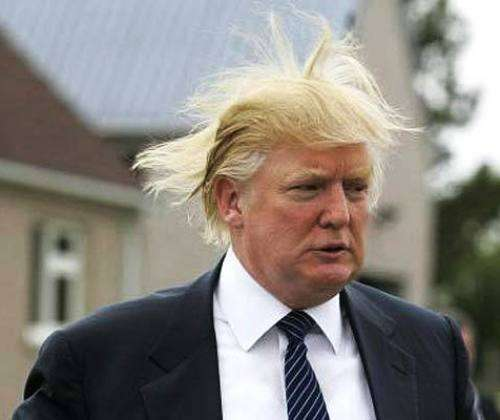 donald trump hair piece. Donald Trump Hates George Bush