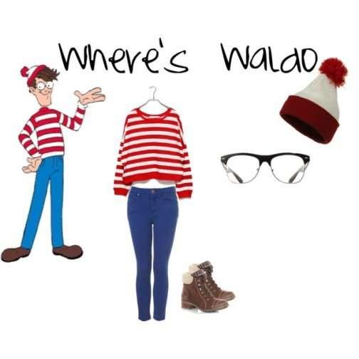 Wheres Waldo Womens Costume