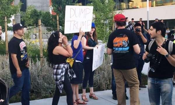 dump trump protesters